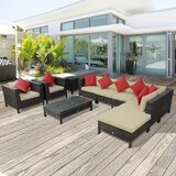 Lutie 17 Piece Sectional Seating Group with Cushions by Sol 72 Outdoor