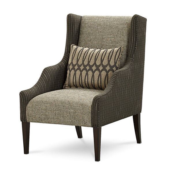 Naropa Mineral Wing Chair by Canora Grey