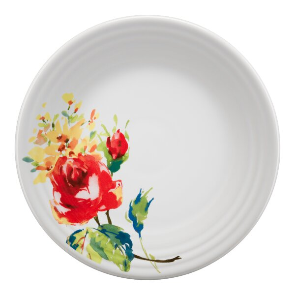 Luncheon Plate Floral Bouquet by Fiesta