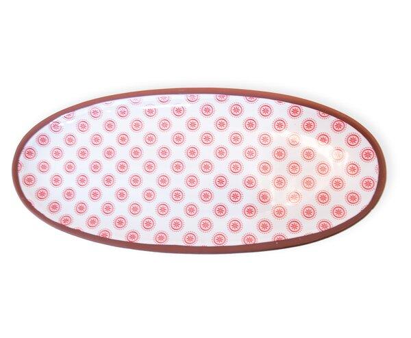 Devonte Cherry Dot Oval Platter by Corrigan Studio