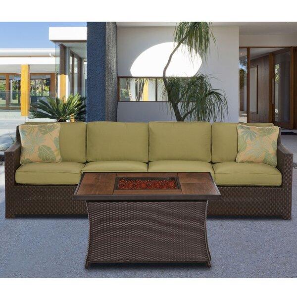 Kinney 3 Piece Sofa Set with Cushions by Bayou Breeze