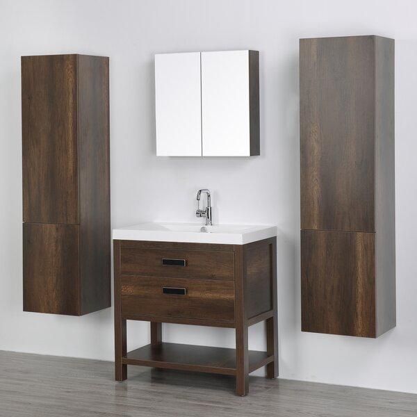 32 Single Bathroom Vanity Set with Mirror by Streamline Bath