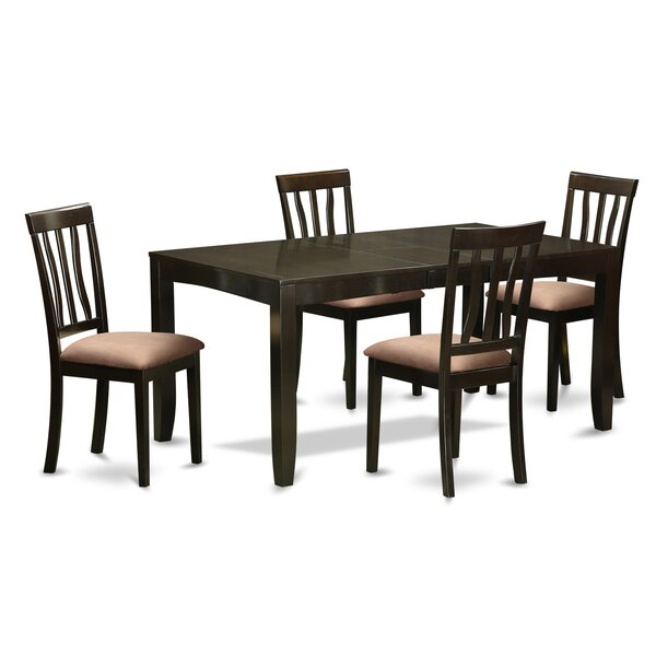 Best  Lockmoor 5 Piece Dining Set By Red Barrel Studio Discount