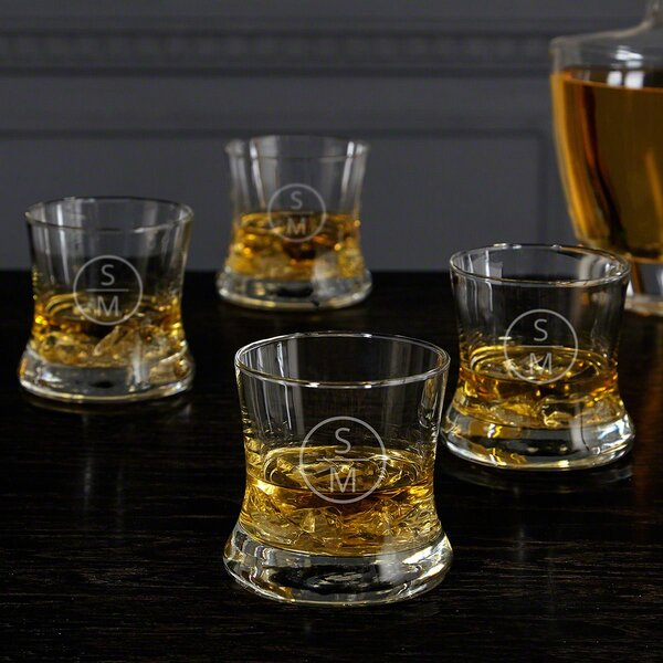 Emerson 9 oz. Glass Whiskey Glass (Set of 4) by Home Wet Bar