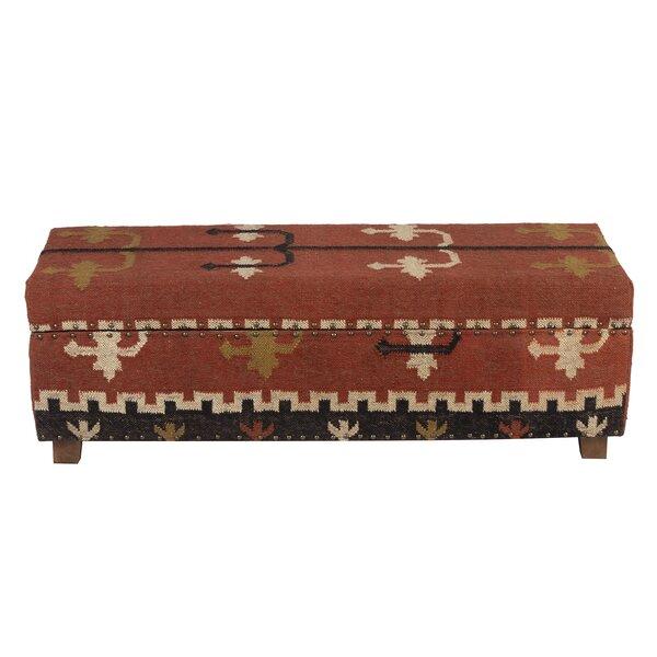 Groover Upholstered Flip Top Storage Bench