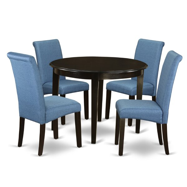 Amya Small Kitchen Table 5 Piece Solid Wood Breakfast Nook Dining Set by Winston Porter