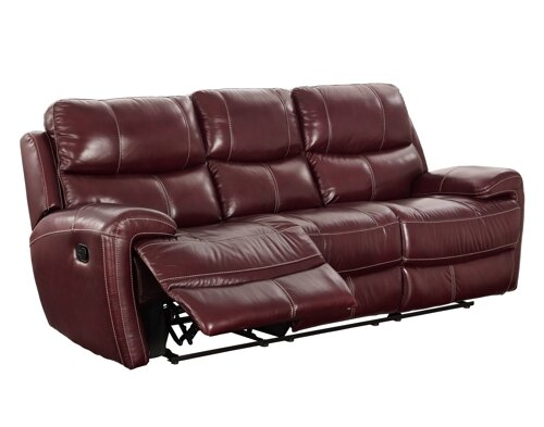 Chasse Leather Power Reclining Sofa by Red Barrel Studio