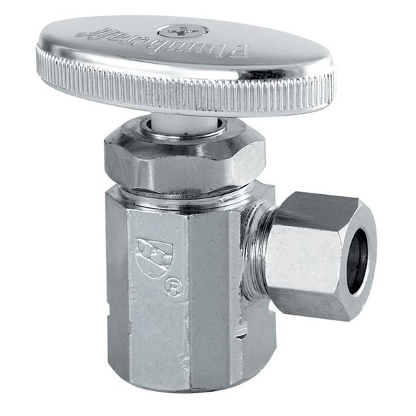 1/2 FIP 3/8 Low Lead Angle Valve by Plumb Craft