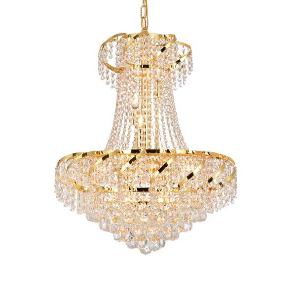 Antione 11 - Light Unique / Statement Empire Chandelier with Crystal Accents by Rosdorf Park Rosdorf Park