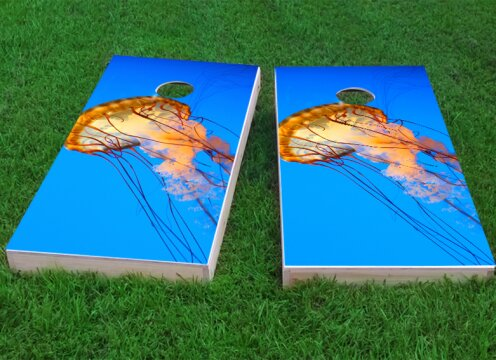 Jelly Fish Cornhole Game (Set of 2) by Custom Cornhole Boards