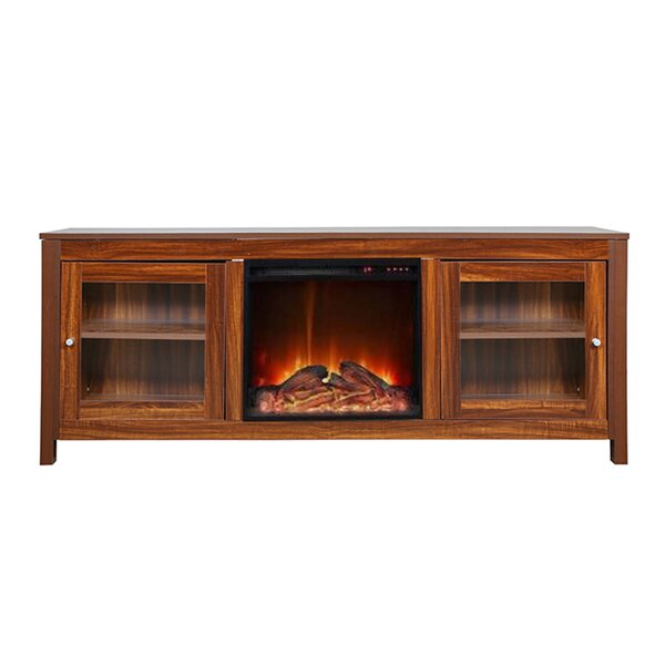 Jordao Solid Wood TV Stand For TVs Up To 65 Inches With Electric Fireplace Included By Red Barrel Studio