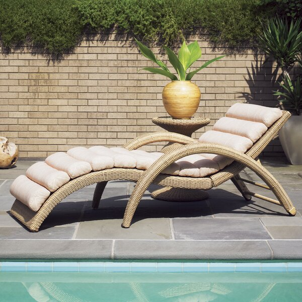 Aviano Reclining Chaise Lounge with Cushion by Tommy Bahama Outdoor