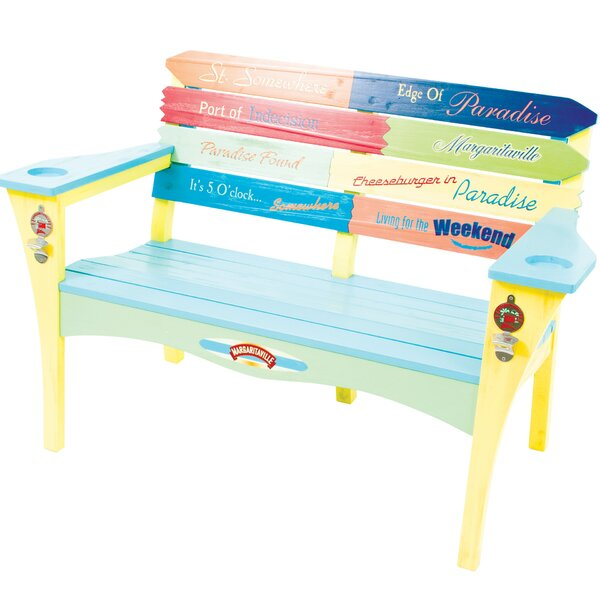 Margaritaville  inch Southern Most Point inch  Wooden Garden Bench by Rio Brands