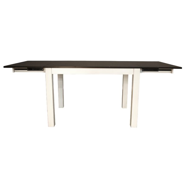Aguero Counter Height Extendable Solid Wood Dining Table by Canora Grey
