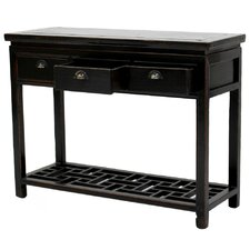 Ming Style Console Table with Drawer by Sarreid Ltd