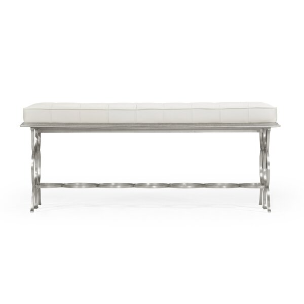 Rectangular Leather Bench by Jonathan Charles Fine Furniture
