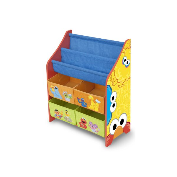 Sesame Street Book and Toy Organizer by Delta Children