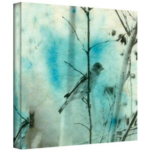 'Asian Bird' by Elena Ray Graphic Art on Wrapped Canvas by ArtWall
