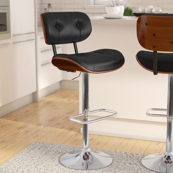 Catina Modern Adjustable Height Swivel Bar Stool by Wade Logan