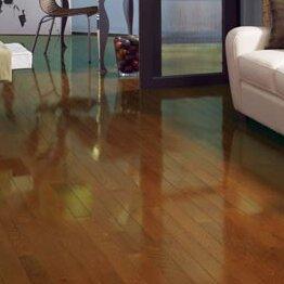 High Gloss 3-1/4 Solid Oak Hardwood Flooring in Gunstock by Somerset Floors