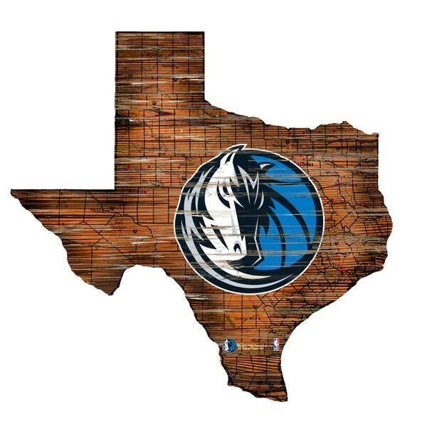 NBA Mavericks Distressed State Wall Décor by Fan Creations