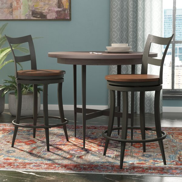 Baeza 24 Swivel Bar Stool (Set of 2) by Mercury Row