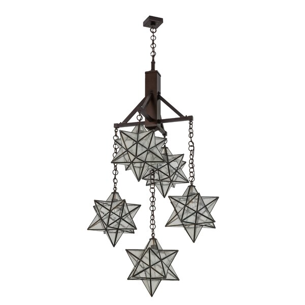 Beaudin 5 - Light Unique / Statement Geometric Chandelier by Millwood Pines Millwood Pines