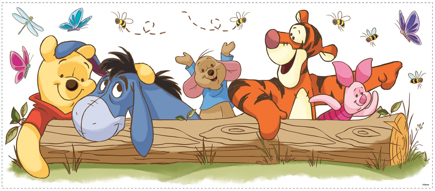 Beautiful Winnie The Pooh Outdoor Fun Giant Wall Decal Part 9