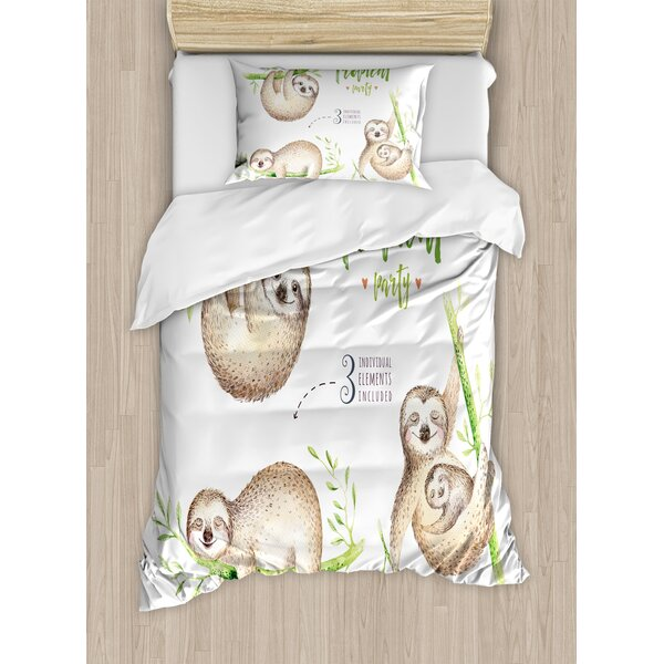 Pink And Gray Sloth Duvet Cover Sloth Duvet Cover