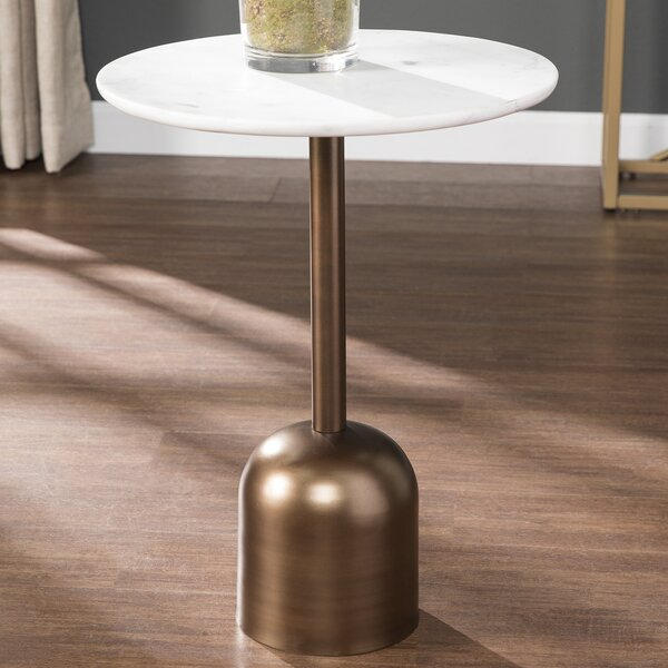 Herb Marble-Top End Table by Mercer41