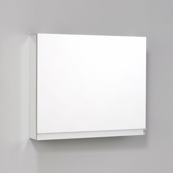 Uplift Series Recessed or Surface Mount Frameless Medicine Cabinet with 1 Adjustable Shelves and LED Lighting