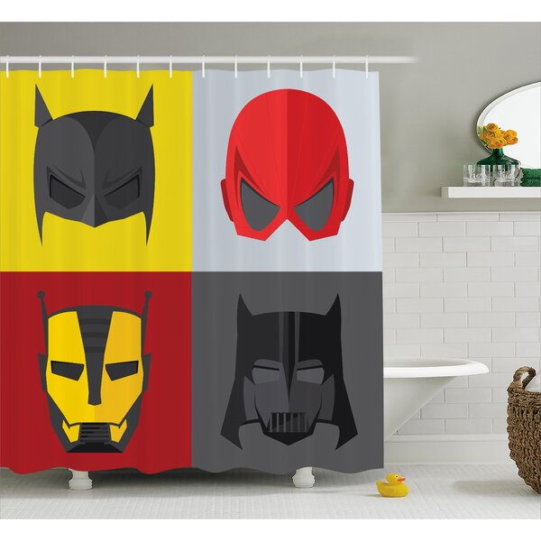 Marlon Heros for Villians Shower Curtain by Zoomie Kids