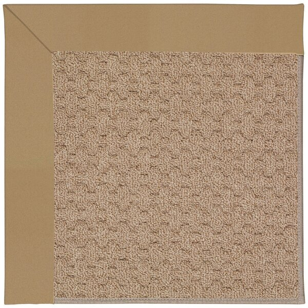 Lisle Machine Tufted Light Gold and Beige Indoor/Outdoor Area Rug by Longshore Tides