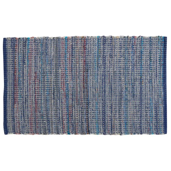 Bryce Canyon Hand-Woven Denim Area Rug by Bungalow Rose