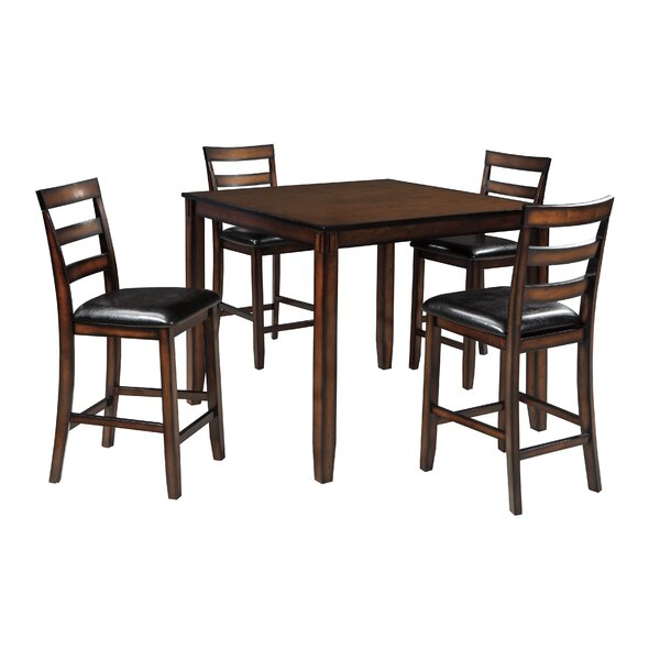 Carolina 5 Piece Counter Height Dining Set By Millwood Pines by Millwood Pines Cool