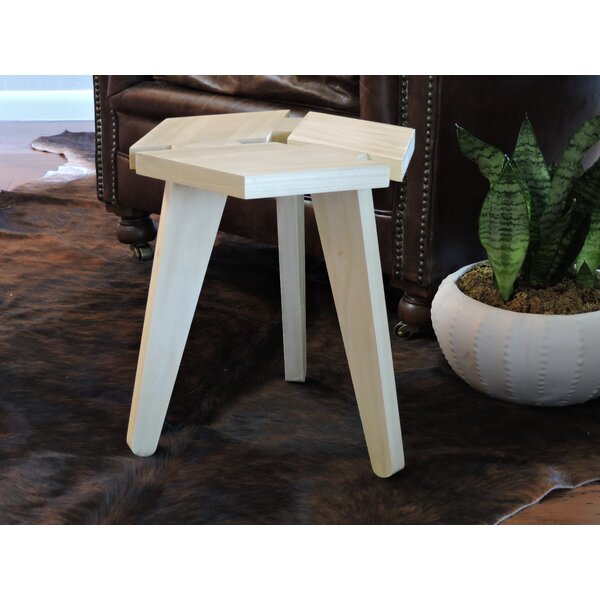 Zandra 3D Box Top Hardwood Short Accent Stool by Union Rustic