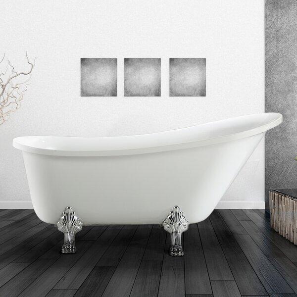 Jacqueline 63 x 28 Soaking Bathtub by Vinnova