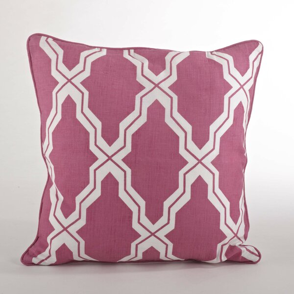 Yasmina Moroccan Design Down Filled Throw Pillow by Saro