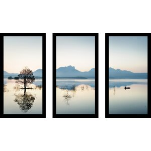 Gone Fishin' 3 Piece Framed Photographic Print Set by Picture Perfect International