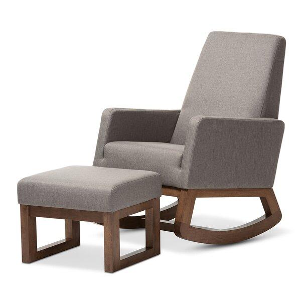 Ankney Yashiya Fabric Upholstered Swivel 20.67-inch Armchair and Ottoman by Gracie Oaks Gracie Oaks