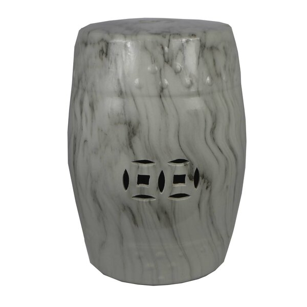 Deaver Marble Garden Stool By Charlton Home