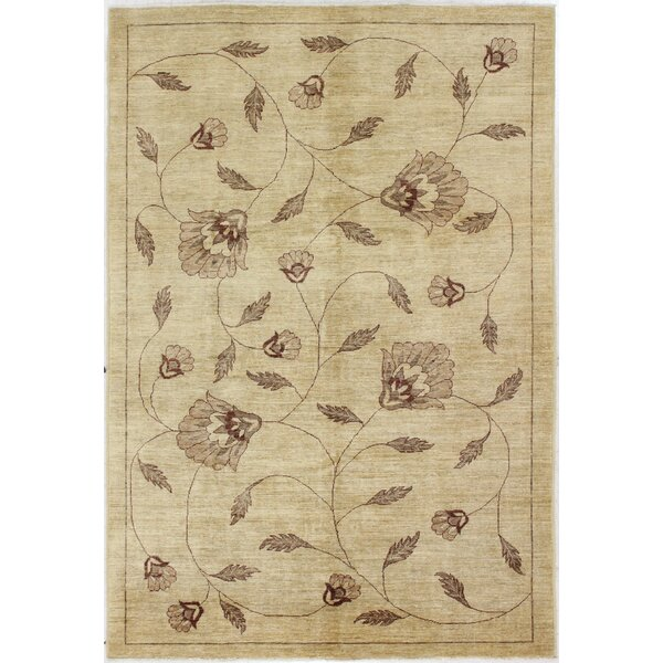 One-of-a-Kind Barfield Hand-Woven Wool Beige Area Rug by Canora Grey