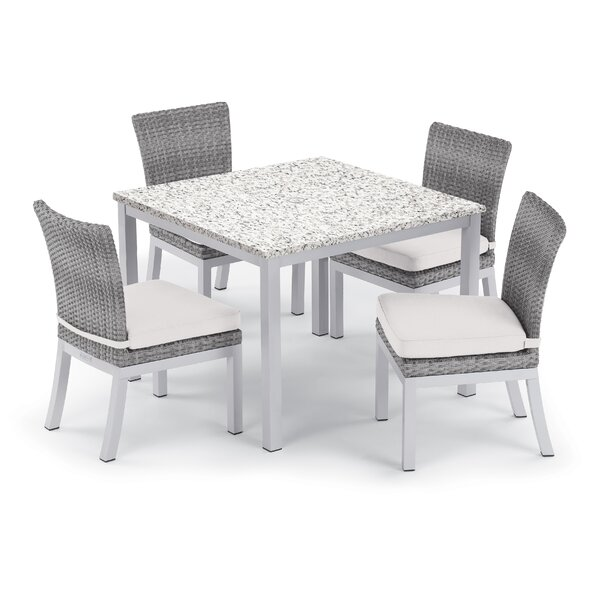 Saleem 5 Piece Dining Set with Cushion by Brayden Studio