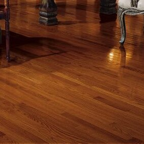 2-1/4 Solid Oak Hardwood Flooring in Low Glossy Cherry by Bruce Flooring