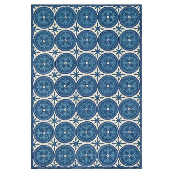 Durgin Hand-Tufted Blue/Ivory Area Rug by Darby Home Co