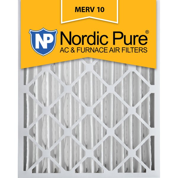 Merv 10 Pleated Air Conditioner/Furnace Filter (Set of 2) by Nordic Pure