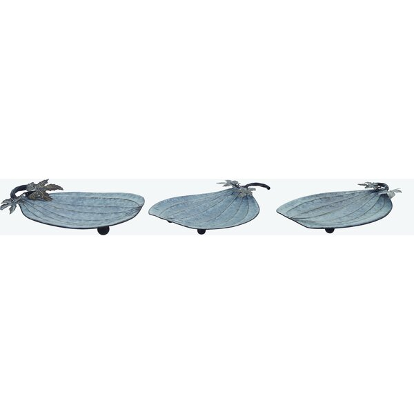 Aaru Galvanized Pumpkin 3 Piece Accent Tray Set (Set of 3) by August Grove