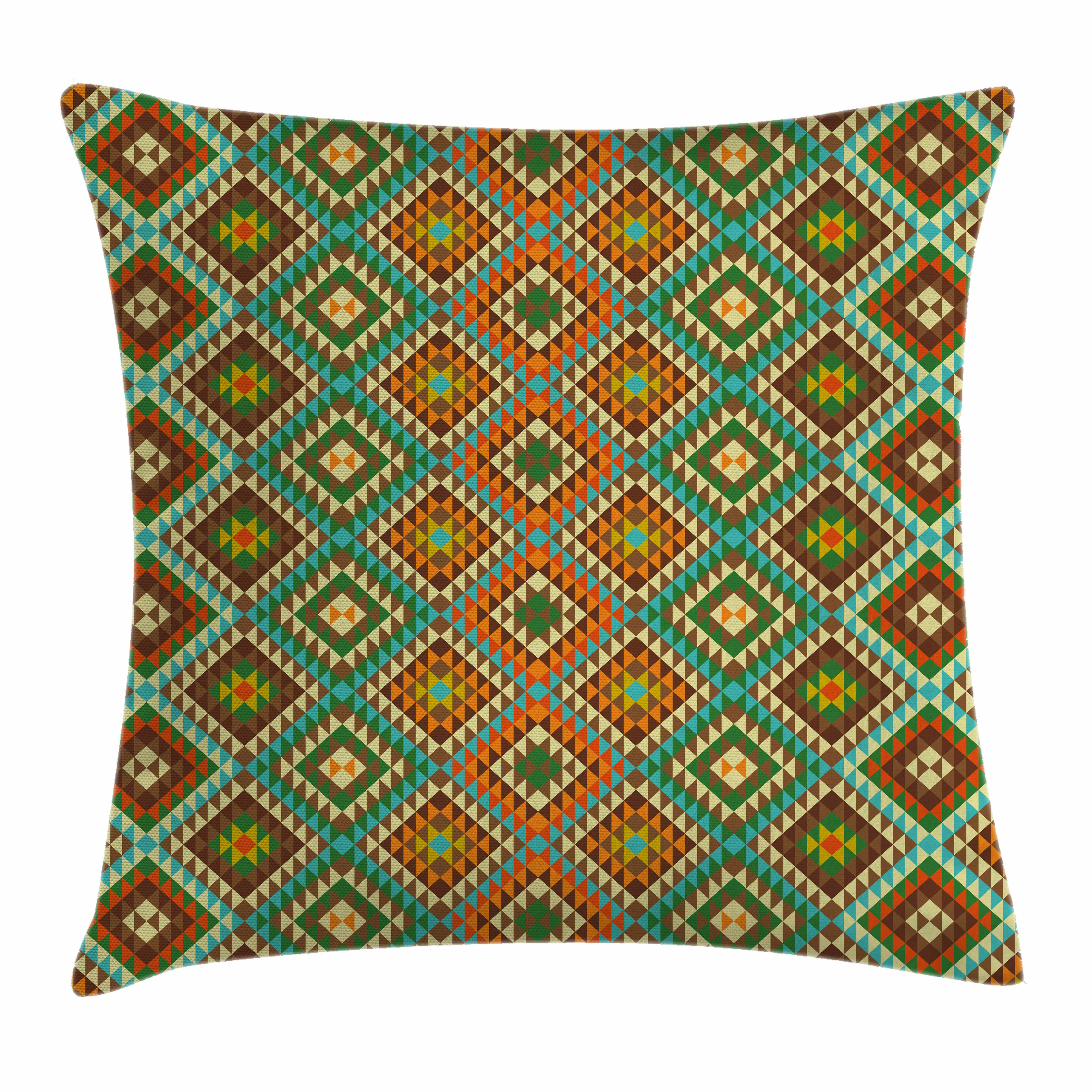 Ambesonne indian mosaic folkloric ethnic square pillow cover wayfair