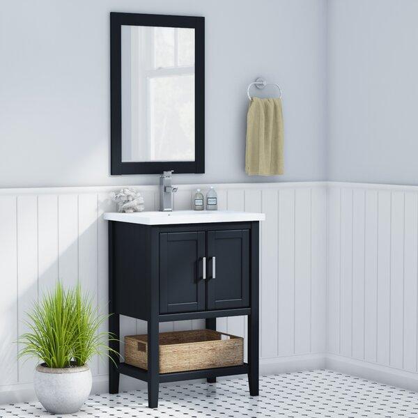 Annabel 24 Single Bathroom Vanity Set with Mirror by Beachcrest Home