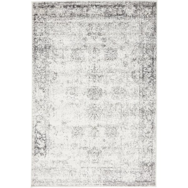 Brandt Gray Area Rug by Mistana